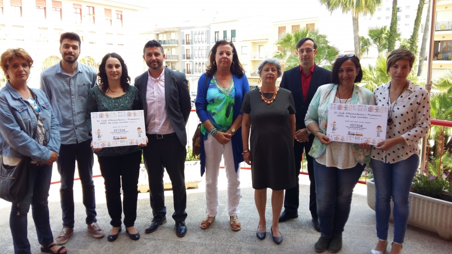 NVOC doneert € 715 aan AMPAS del CEIP Cap d´Or y Sant Vicent Ferrer  voor schoolmateriaal