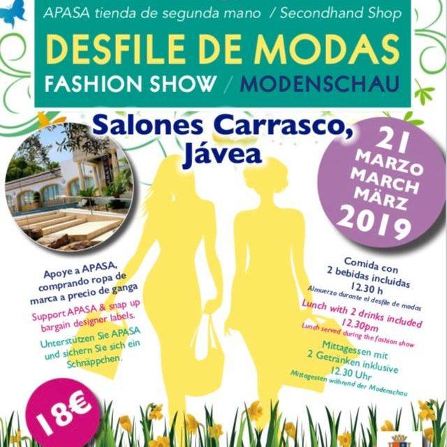 Modeshow ten behoeve van dierenasiel Javea 21 maart 2019