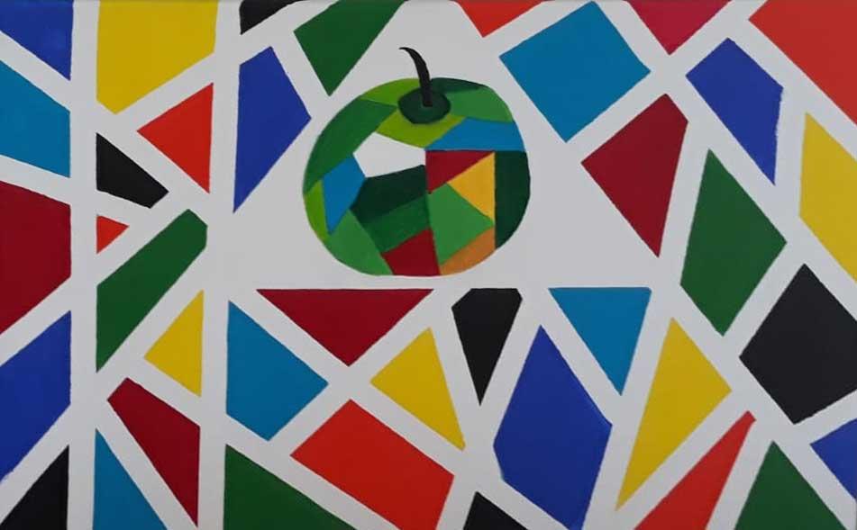 Een penseelstreek: Appel